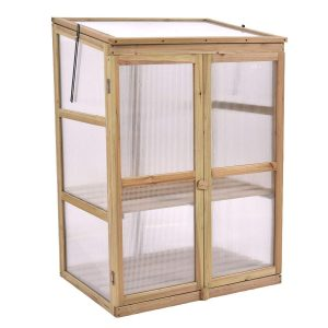 wood frame mini greenhouse